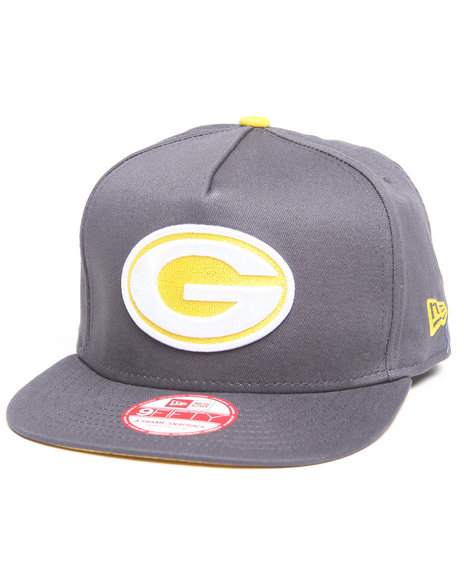 green bay packers flip up offical snapback hat (a-frame w/ undervisor treatment)