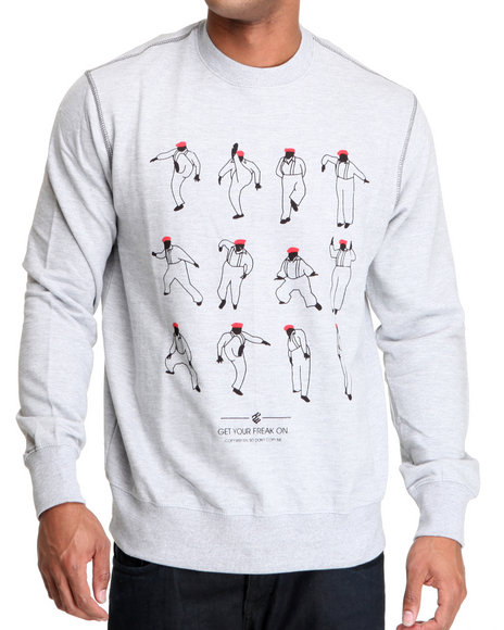 Rocawear Men Grey G.Y.F.O. Crewneck Sweatshirt