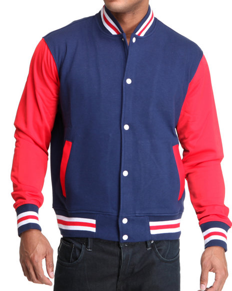Rocawear Men Blue Fresh To Death Varsity Jacket
