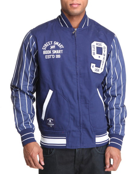Rocawear Men Blue Ny Hustlers Training Jacket