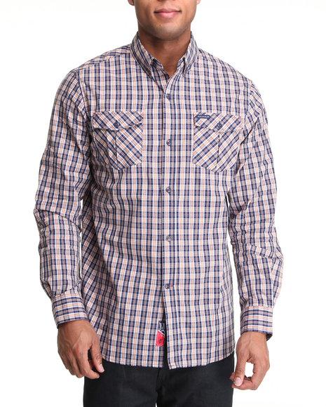 Rocawear Men Blue Fresh To Death L/S Button-Down
