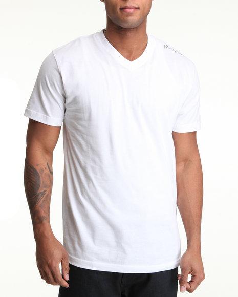 Rocawear - Men White Basic V-Neck Tee
