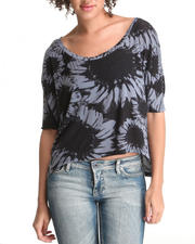 Women - Hi-Lo Flower Knit Top