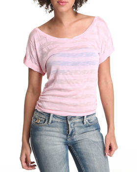 Basic Essentials - Short Sleeve Knit Stripe Top
