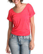 Women - Short Sleeve Knit Stripe Top