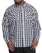 Men - Long Sleeve Sutton Plaid Shirt (B&T)