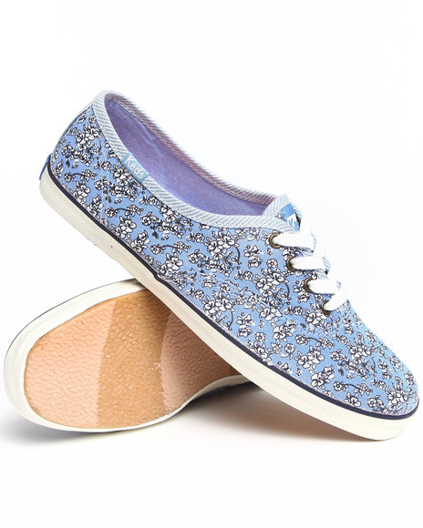Keds Women Blue,Multi Champion Floral Chambray