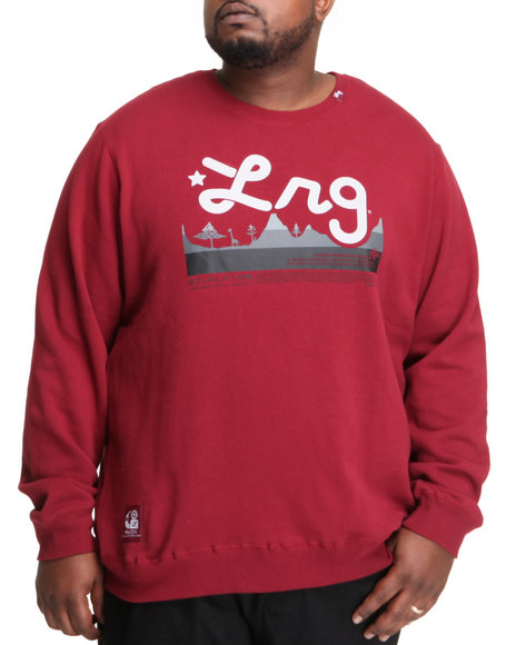 LRG Men Maroon Core Collection Crewneck Sweatshirt (B&T)