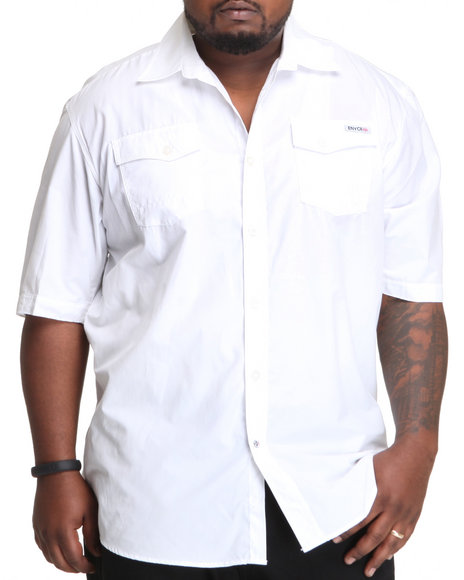 Enyce Men White High Road Short Sleeve Woven (B&T)