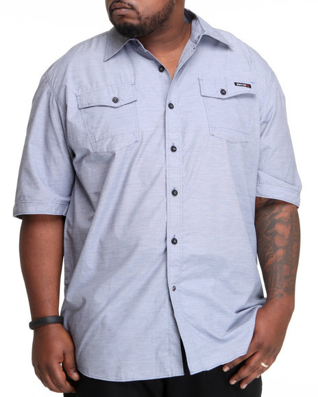Enyce Men Blue High Road Short Sleeve Woven (B&T)