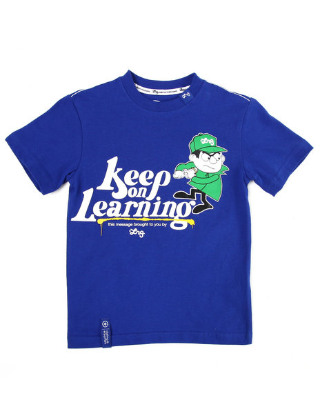LRG Boys Blue Keep On Learning Tee (4-7)