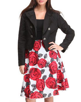 Basic Essentials - 2-Piece Jacket & Skirt