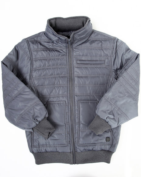 Arcade Styles Boys Grey Nightrider Jacket (8-20)