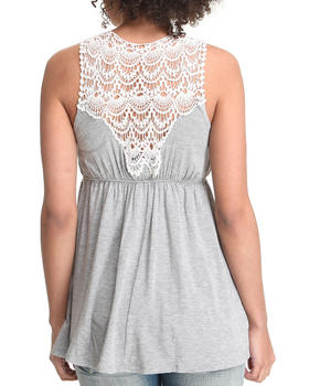 Basic Essentials - Empire Waist top w/crochet back