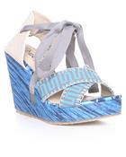 Fashion Lab Women Hakea Wedge Blue 7