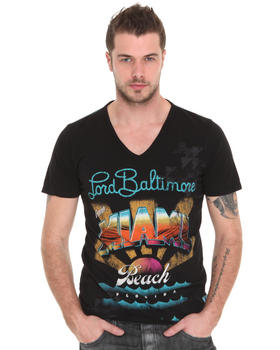 Lord Baltimore - Miami Flocked V-Neck Tee