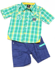 Boys - 2-piece ASA Plaid Woven Short Set (4-7)