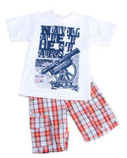 2T-4T Toddlers - 2-piece Dudley Tee Short Set (TOD)