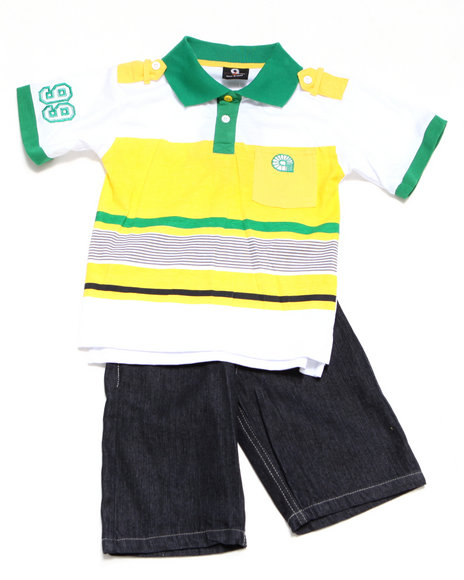- 2-piece Evan Polo Short Set (4-7)