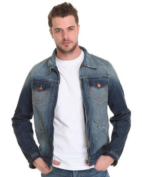True Religion - Zip Front Trucker Denim Jacket in Deadwood Wash