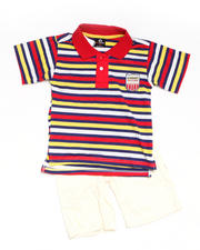 4-7x Little Boys - 2-piece Bootsy Polo Short Set (4-7)