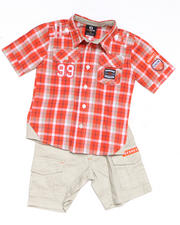 4-7x Little Boys - 2-piece ASA Plaid Woven Short Set (4-7)