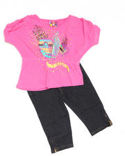 Infant - 2pc Hi Low Knit Top with Capri Set