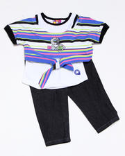 Infant - 2pc Tie Knit Top with Capri Set