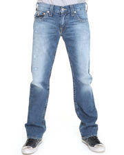 True Religion - Bobby Straight Leg Cracked Finished Denim