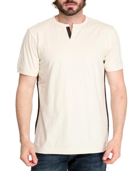 A Tiziano Men Off White Thompson Y-Neck T-Shirt