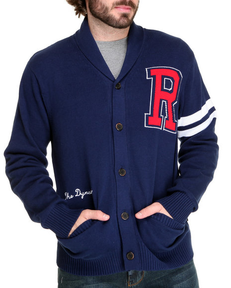 Rocawear Men Blue Collegiate Swag Cardigan