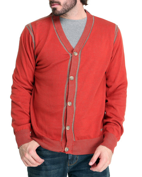 A Tiziano Men Red Randy Cardigan