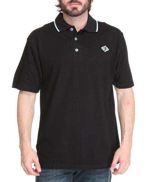 Enyce Men Black New Reprisal Short Sleeve Polo