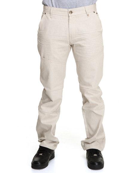 A Tiziano Men White Lennon Straight Fit Denim Jeans