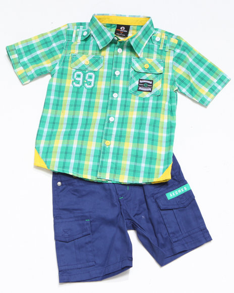 - 2-piece ASA Plaid Woven Short Set (INF)