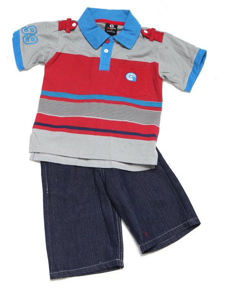 - 2-piece Evan Polo Short Set (8-20)