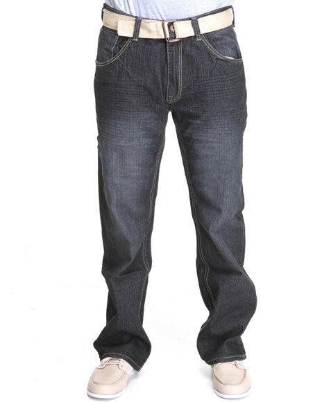 Enyce Men Blue Eynce Core Belted Denim Jean