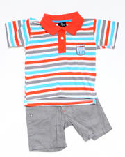 4-7x Little Boys - 2pc Bootsy Polo Short Set (4-7)
