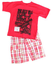 2T-4T Toddlers - 2pc Dudley Tee Short Set (TOD)
