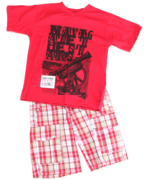 - 2pc Dudley Tee Short Set (TOD)