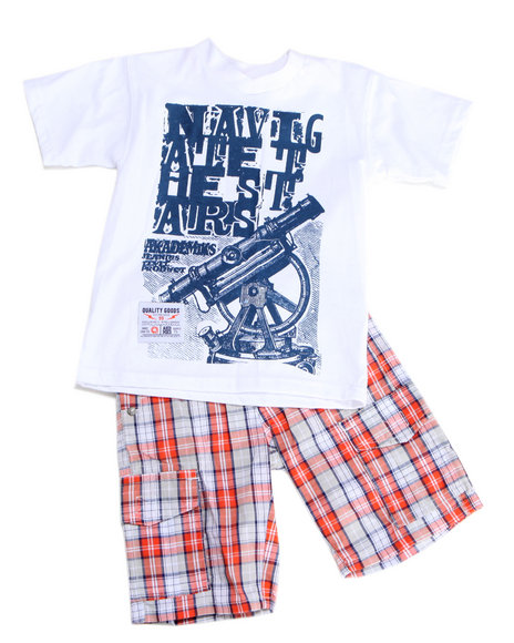 - 2pc Dudley Tee Short Set (8-20)