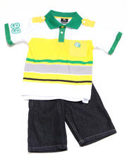 2T-4T Toddlers - 2pc Evan Polo Short Set (TOD)