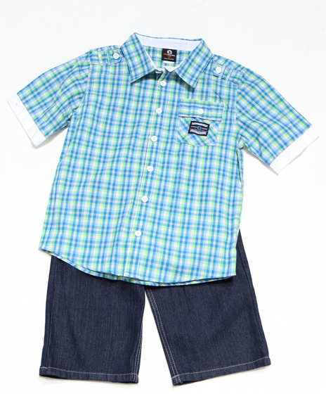 - 2pc Ford Woven Short Set (4-7)