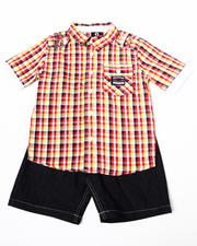 Boys - 2pc Ford Woven Short Set (8-20)