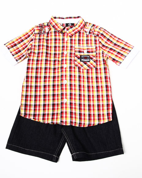 - 2pc Ford Woven Short Set (8-20)