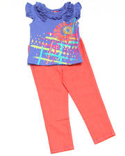 Girls - 2pc V Neck Knit Top with Jean Set
