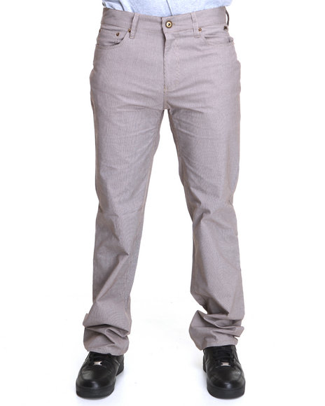 A Tiziano Men Brown Rick Straight Fit Denim Jeans