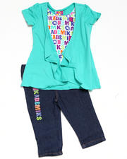 Girls - 2pc Knit Top with Capri Set