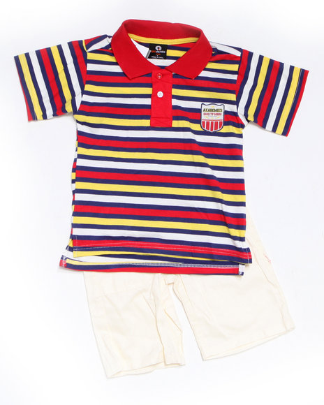 - 2pc Bootsy Polo Short Set (INF)