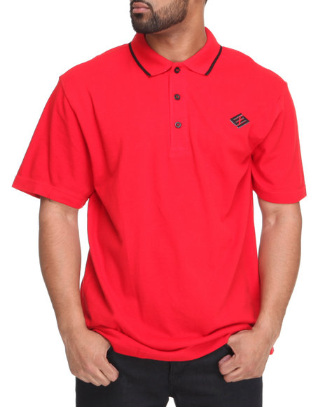 Enyce Men Red Reprisal Solid Polo